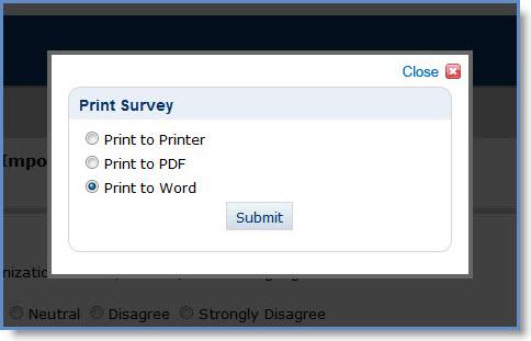 word survey