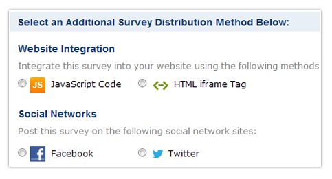 Additional Survey Distribution Methods