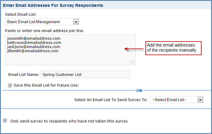 Send Surveys to Multiple Email Addresses Using the Basic Email List