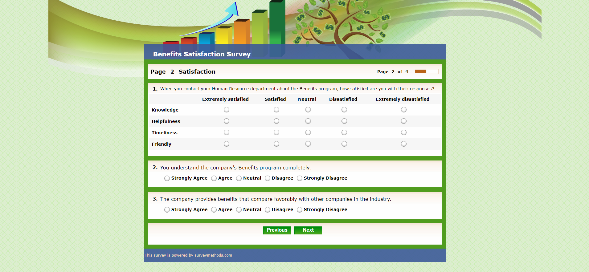 Benefits Satisfaction Survey