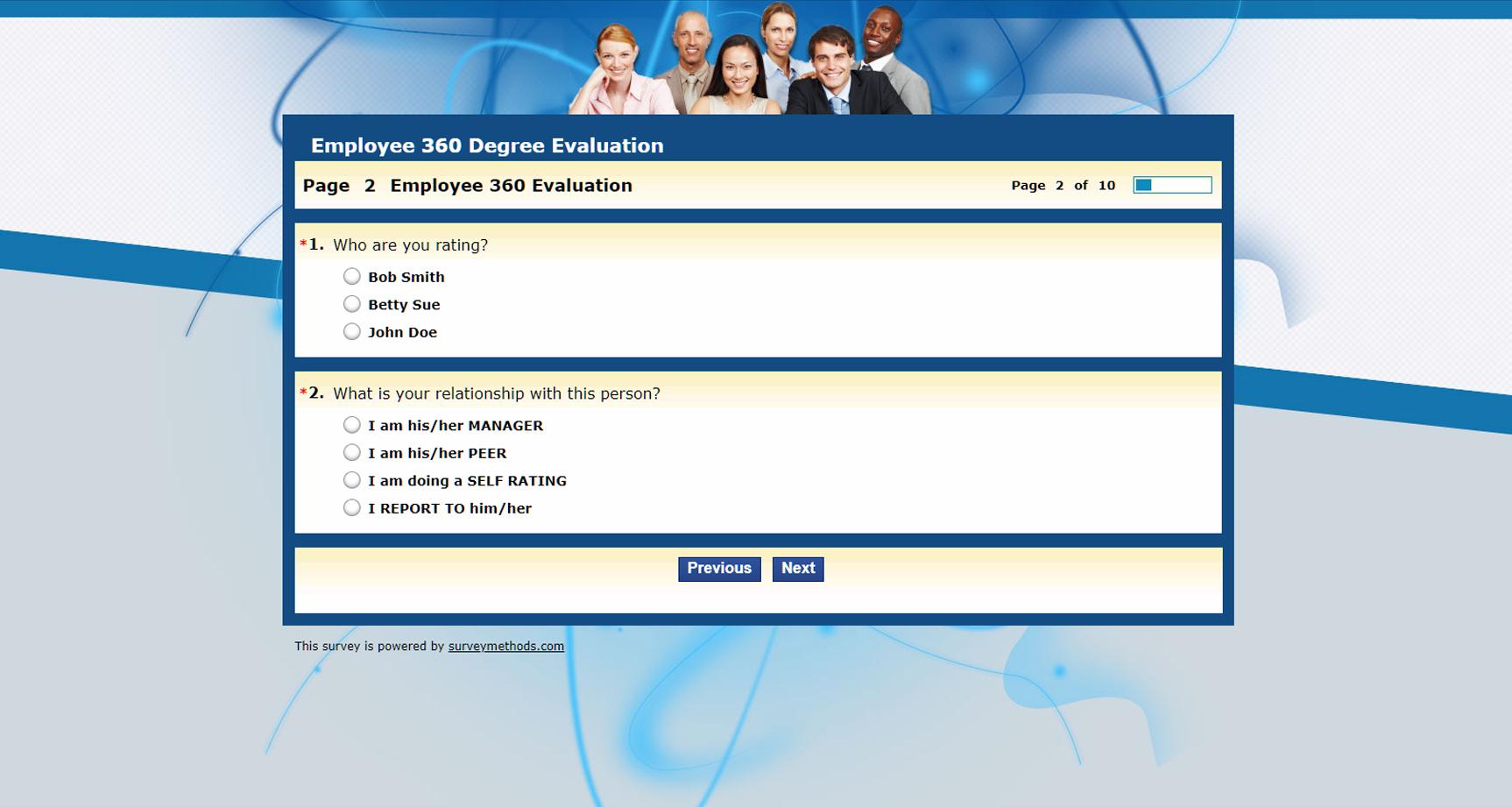 Employee 360 Degree Evaluation Survey