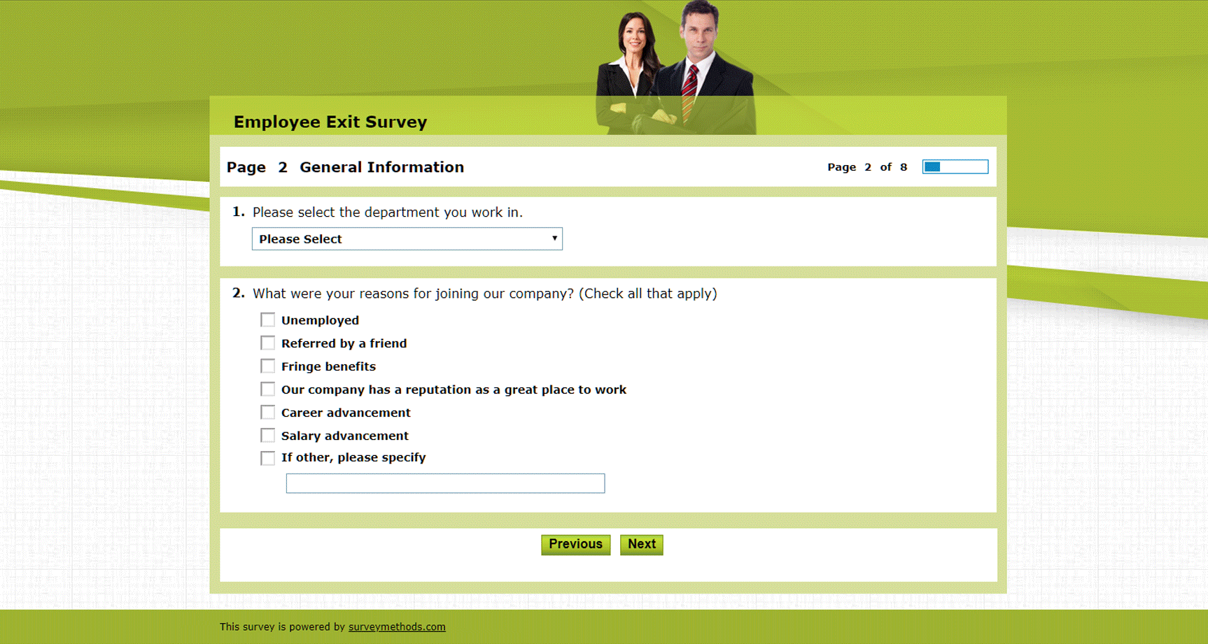 Employee Exit Survey Template