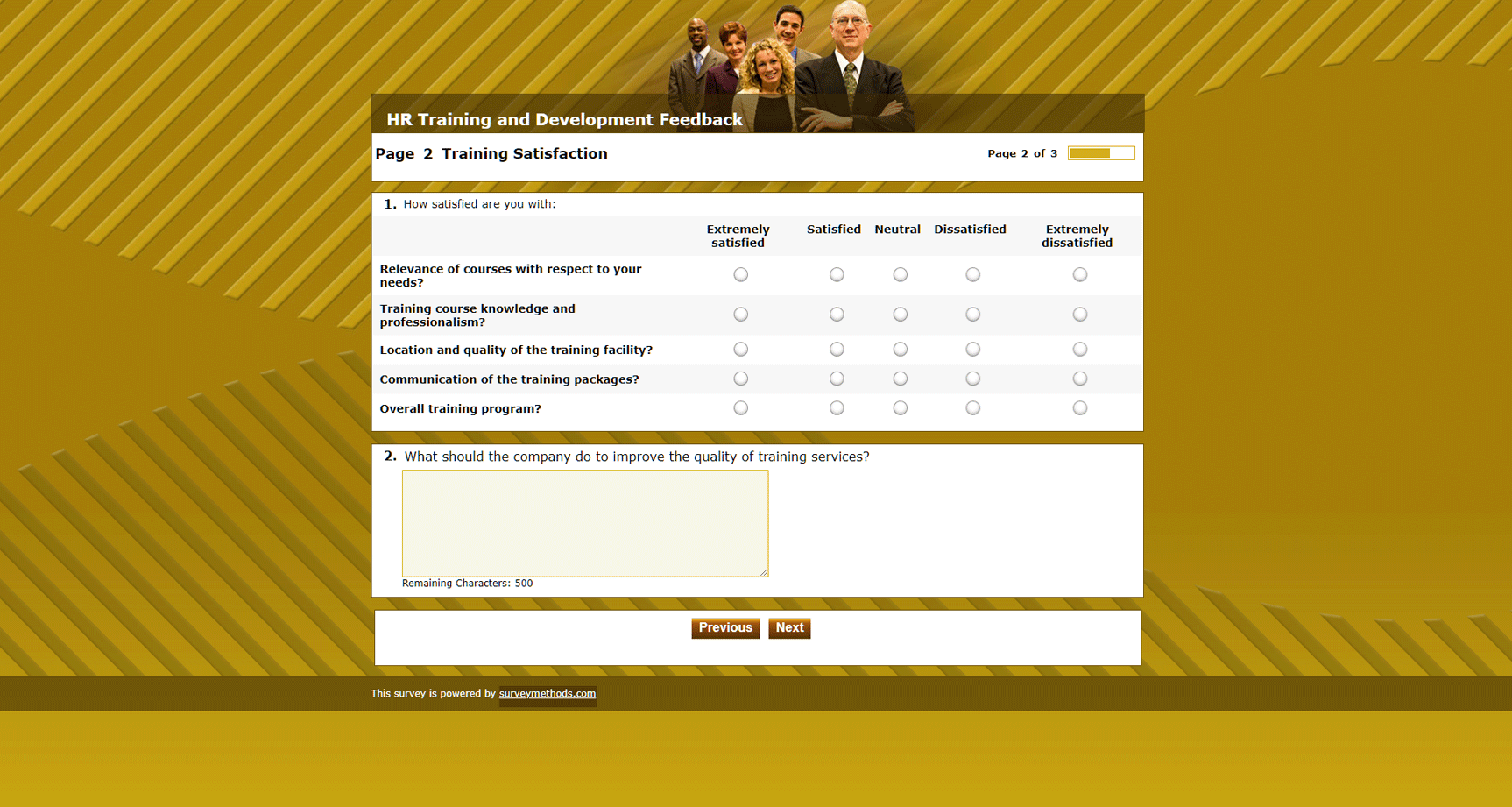 HR Training and Development Survey