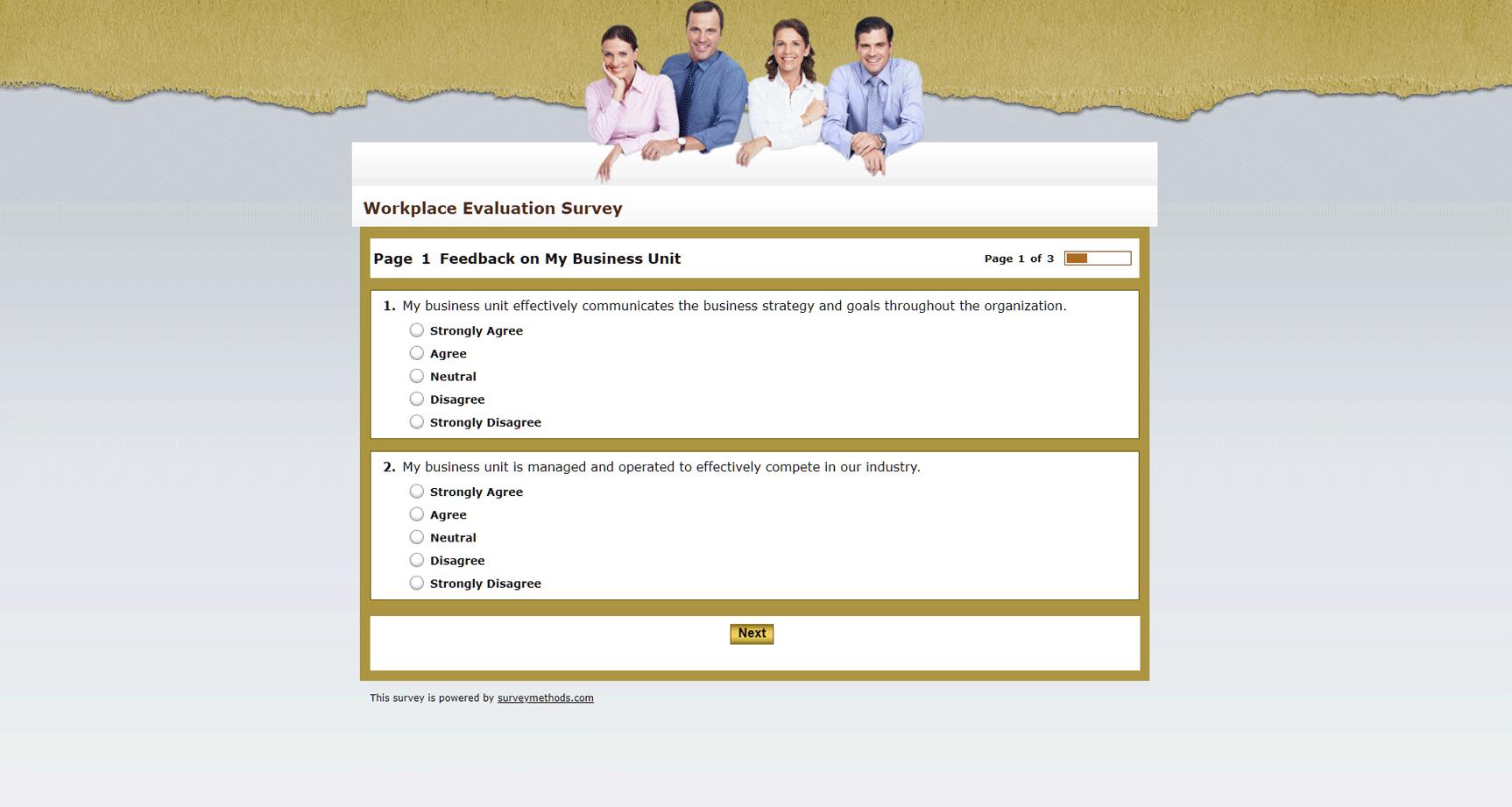 Workplace Evaluation Survey